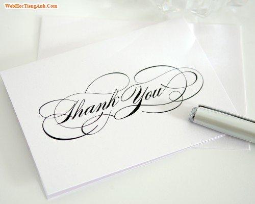 Cách nói Cảm ơn trong tiếng Anh - Thanks you!